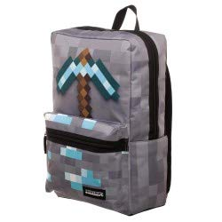 Minecraft Backpack Diamond Pickaxe 18 with Laptop Sleeve