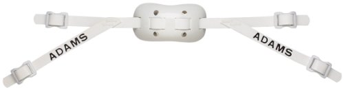 Adams USA PRO-100-4S 4-Point Low Football Chin Strap with Sewn Straps, White