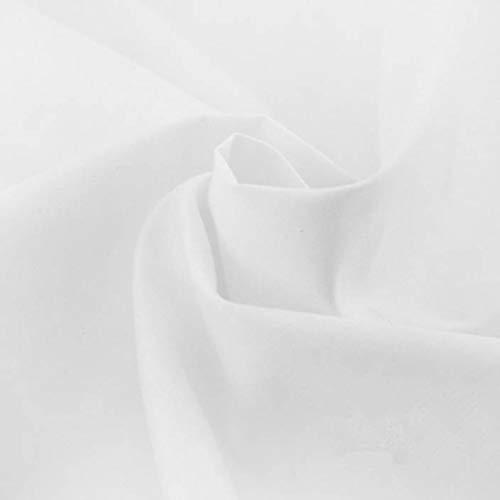 Leda White Solid Decorative Craft/Dress Making Solid Fabric