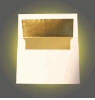 A7 Cream / Off White Gold Foil Lined Envelopes - 50 Envelopes