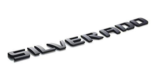 Aimoll 1pc Silverado Nameplate Letter Emblem 3D Badge Replacement for 1500 2500HD 3500HD 2009-2018 Silverado Chevrolet (Matte Black)]()
