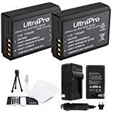LP-E10 Battery 2-Pack Bundle with Rapid Travel Charger and UltraPro Accessory Kit for Select Canon Cameras Including EOS...