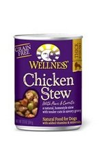 Wellness Dog, Can, Chkn Stw, Pea and Crrt, 12.50-Ounce (Pack of 6)