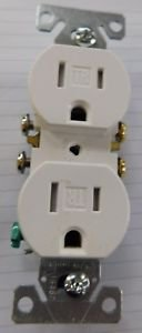 Cooper Wiring Devices 10PCS White TR270W Grounding Duplex Receptacle