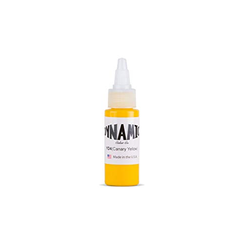 Dynamic Canary Yellow Tattoo Ink Bottle 1oz