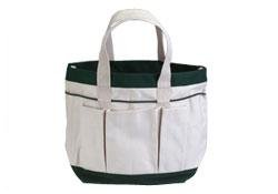 The Rumford Gardener RG435A Canvas Garden Tote with Pockets Eggshell White