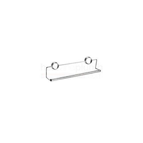 Croydex Twist 'N' Lock Plus Suction or Screw Fix Towel Rail, Silver QM372641 CXQM372641