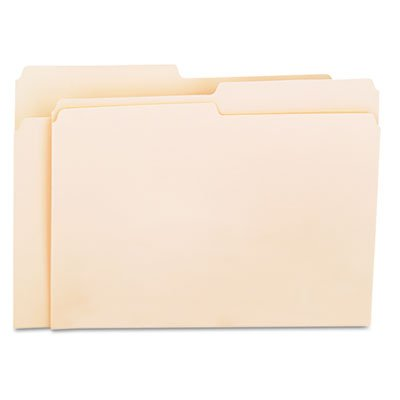 Universal Products - Universal - File Folders, 1/2 Cut, One-Ply Top Tab, Letter, Manila, 100/Box - Sold As 1 Box - Classic folder constructed to resist tearing. - Bottom triple-scored for no-sag expansion. - Undercut at tabs for increased indexing area. - 11 pt. Manila. -