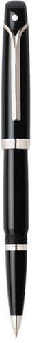 Sheaffer Valor Roller Ball Pen, Palladium Plate Trim with Refill, Black Acrylic Finish (SH/9351-1) (Ball Trim Palladium Resin Roller)