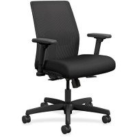 Chair Low Back Guest (HON I2L1AMLC10TK Ignition 2.0 Ilira-Stretch Low-Back Mesh Task Chair, Black Fabric Upholstery)