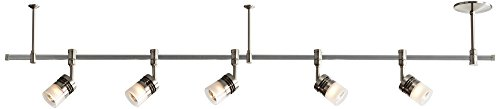 Pro Track Elex 5-Light Satin Nickel Glass Track Fixture