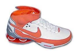 Nike Shox Elite TB White/Orange Size -