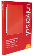BRY Universal Top-Load Poly Sheet Protectors, Standard, Letter, Clear, 100/Box - UNV21125