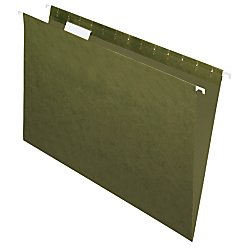 Office Depot(R) Brand Hanging Folders, 1/5 Cut, Legal Size, 100% Recycled, Green, Pack Of 25
