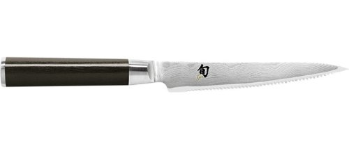 Shun DM0722 Classic 6-Inch Serrated Utility Knife