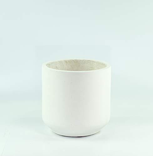 UPshining FL01 Large Modern Fiber Clay Cylinder Planter 10'' White Pots