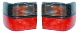 LH Quarter Mounted Red/Smoke Brake Light Taillight Pair Set for 93-99 VW (97 98 99 Jetta Tail)
