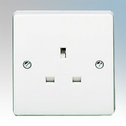 Crabtree 7255 Unswitched Socket Outlet 1 Gang 13A by - Crabtree Outlet
