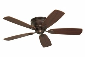 Emerson Ceiling Fans CF905VNB Prima Snugger 52-Inch Low Profile Ceiling Fan With Wall Control, Light Kit Adaptable, Venetian Bronze Finish (Emerson Indoor Fans)