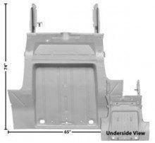 - 1962-67 Nova Trunk Floor Pan with Rear Seat Pan & Frame Rails (Weld...