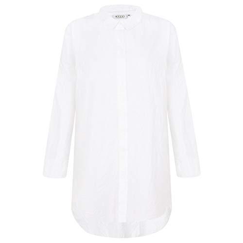Camisas Clothing Clásico Mujer Para Manga Blanco Masai Larga 5BqdqW