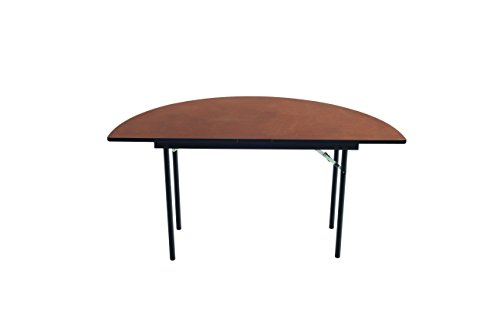 Stained Molding (Folding Table, Plywood Stained and Sealed, Vinyl T-Molding Edge, Half Round, Half 72