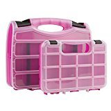 The Original Pink Box PB2PSC Portable Storage Case Set, Pink, 2-Piece by The Original Pink Box