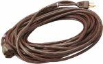 Master Electrician 02356-07ME 40-Feet Round Vinyl Outdoor. Extension Cord, Brown