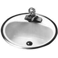 Bootz Industries 021-2430-00 Flat Rim Lavatory Sink, Round, White, 18 In. - 581004,