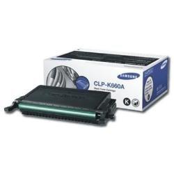Samsung CLP-K660A CLP-610 and 660 Series Toner Cartridge, Black ()