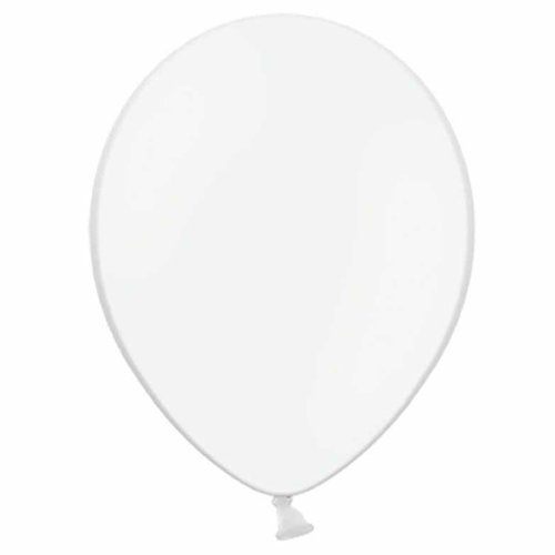 1000 x White Balloons (Belbal) Plain Latex 10 Inch 10'' Helium or Air - Party / Wedding / Birthday by Belbal by Belbal