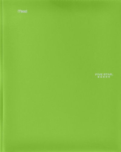 Five Star Stay-Put Pocket Folder, 11.62 x 9.31 x .25 Inches, Lime (72901)