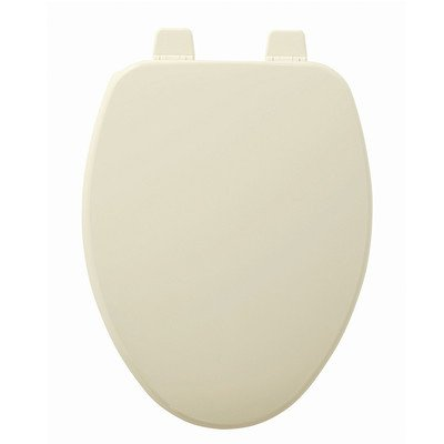 Church Wood Toilet Seat - Church 585TTT 346 Wood Elongated Toilet Seat, Biscuit