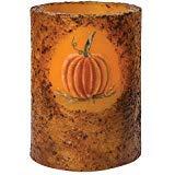 Hearthside Collection Burnt Mustard Pumpkin Timer Pillar