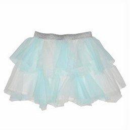 Price comparison product image Kate Mack Girl's 2-6X Candy Cloud Netting Skirt, Aqua - 6