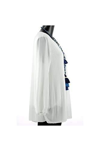 KALI Mousseline Tunique Blanc Blanc Lonalopa 80xHqaTa