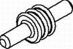 Automotive Connectors CABLE CAVITY PLUG DARK RED (50 pieces)
