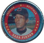 1971 Topps Topps Coins (Baseball) Card# 18 Vada Pinson of the Cleveland Indians ExMt Condition