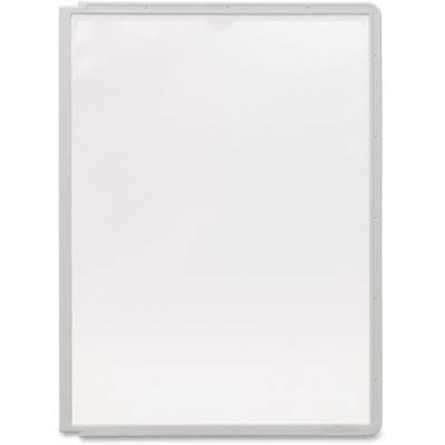 (Sherpa 566610 Display Panel - Letter Size - Polypropylene - 5 / Pack - Gray)