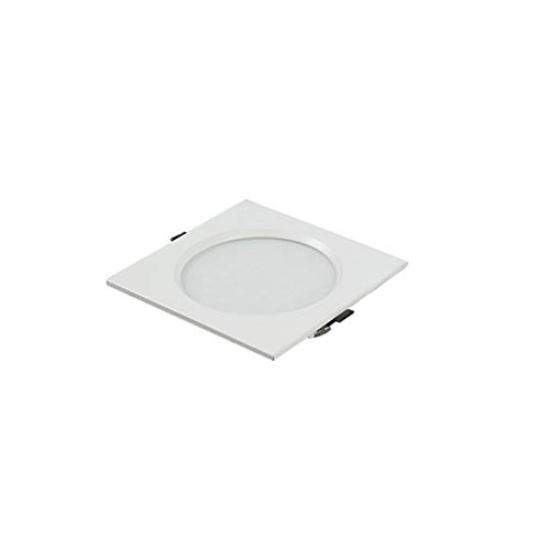 Qyyru Basic Recessed Ceiling Light Single Built-in Spot Light, Downlight White 1 Bulb [Energy Class A++] Ultrathin Round LED Recessed Ceiling Light Spotlight (Color : White Light, Size : 15W)