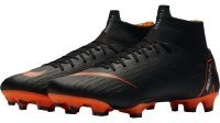 Nike Superfly 6 Pro FG Firm Ground Flyknit Mercurial Soccer Cleats 8 Black/Total Orange-White