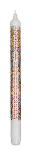 Biedermann & Sons 12 Count Christmas Advent Taper Candles, 12-Inch CT2018