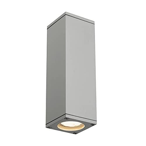 Slv theo - Aplique exterior gu10 2x35w gris plata