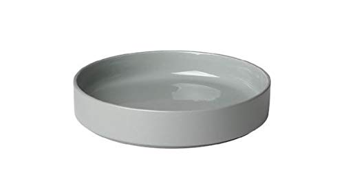 (blomus MIO Ceramic Dessert Plate (Deep) 8 Inch Mirage Gray Set of 4)