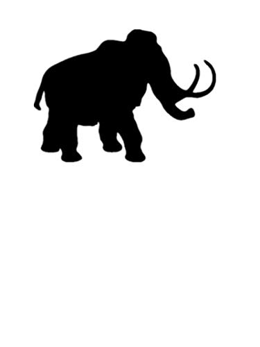 (Woolly Mammoth Dinosaur. Transfer tattoos tattooing temporary tattoos Cute Face tattoos one sheet of A4 paper)