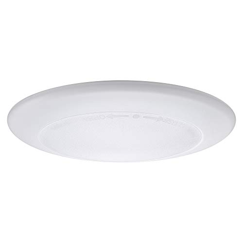 7.5-Inch Dimmable LED Disk Light, Flush Mount Ceiling Light, 15W (65W Equivalent), 1000lm, 2700K Warm White, Matte White Finish with Plastic Shade, ETL Listed, Commercial or Residential