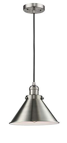 Briarcliff Pendant Lighting - Innovations Lighting 201C-SN-M10 One Light Mini Pendant, Brushed Satin Nickel