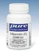 Pure Encapsulations - Vitamine D3 5000 IU 120 ne