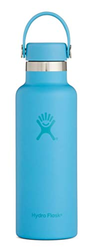 Hydro Flask Skyline Series 18 oz Double Wall Vacuum Insulated Stainless Steel Leak Proof Sports Water Bottle, Standard Mouth with BPA Free Flex Cap, -