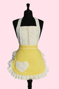 Old Fashioned Aprons & Patterns Sugarbaby Aprons Cute Sexy Hot Vintage Darling Yellow apron $40.00 AT vintagedancer.com